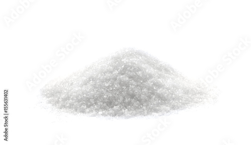 Fotografie, Obraz  Heap of sugar on white background
