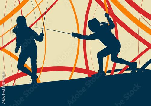szermierka-gracz-walczyc-streszczenie-wektor