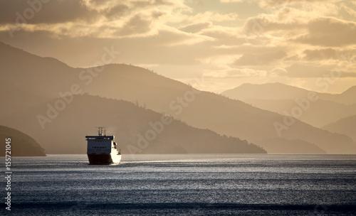 Obraz na płótnie Ferry View Picton New Zealand