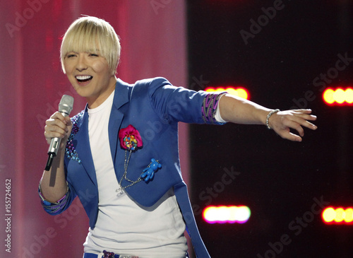 Milan Stankovic from Serbia performs his song