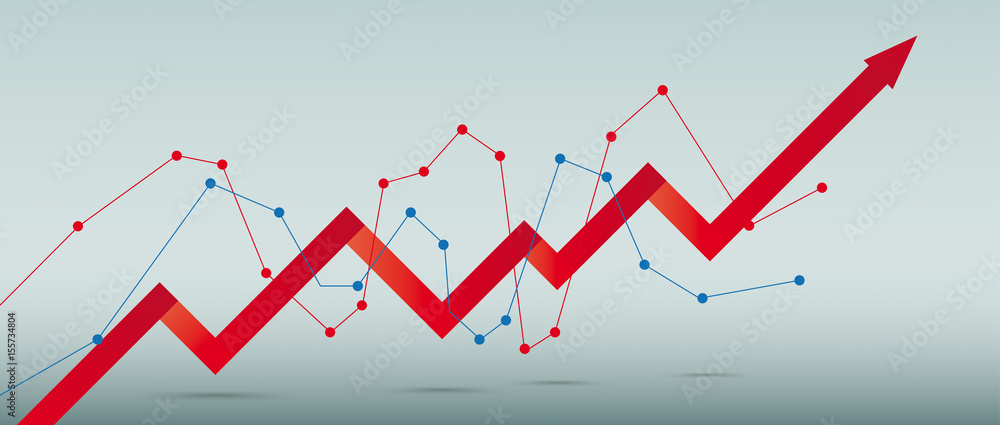 Fototapeta Growth Chart