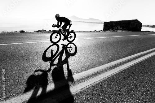 Aluminium Prints Cycling Zeitfahren / Triathlon Silhouette