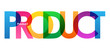 PRODUCT Colourful Vector Letters Icon