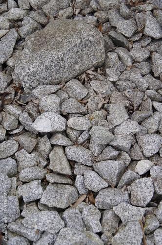 In de dag Stenen Granitschotter