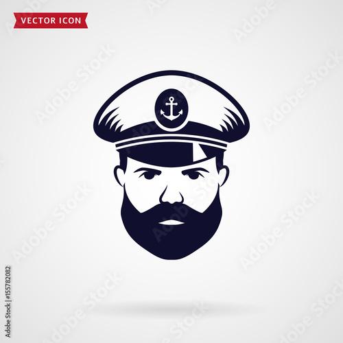 Fotografía  Ship's captain vector icon.