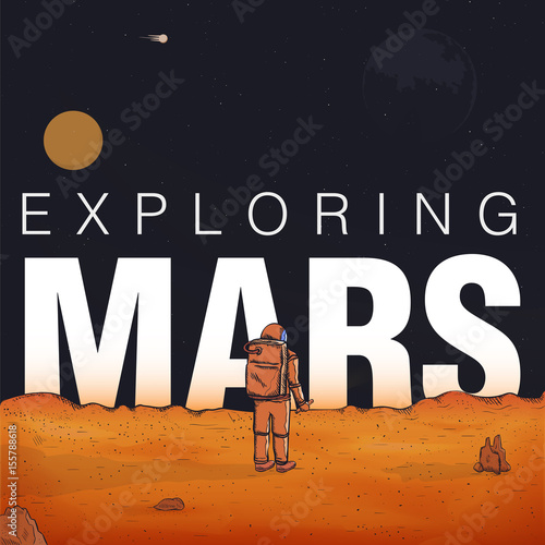 Concept exploring, colonization of Mars Tapéta, Fotótapéta
