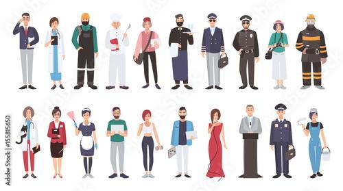 Fotografie, Obraz Set of different people profession