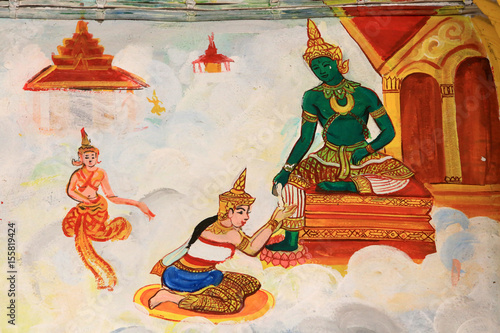 Vie de Bouddha Canvas Print
