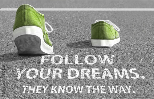 Follow your dreams. They know the way. Tablou Canvas