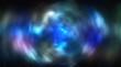 Buntes Farbspiel durch Astronomischen Nebel mit Science-Fiction-Effekt durch radiale Bewegungsunschärfe.
