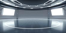 Abstract Futuristic Interior W...