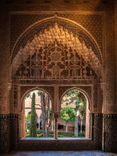 One Of The Windows Of Alhambra, Granada, Spain