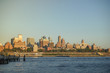 Cityscape of riverfront of New York. Brooklyn