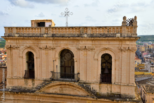 In de dag Glimpses and historical palaces of the historic center of Noto Sicily Italy
