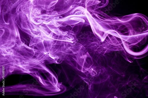 Photo  Toxic purple smoke.