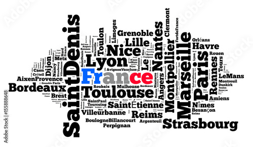Localities in France Wallpaper Mural