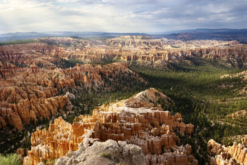 Fototapeta Bryce Canyon National Park Panorama on a Cloudy Day