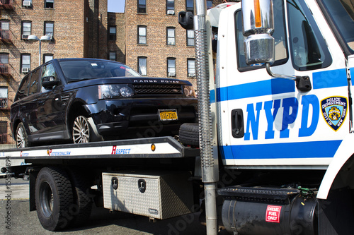 The SUV involved in Sunday's Manhattan's Henry Hudson