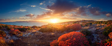 Panoramic View Of Sunset On Th...