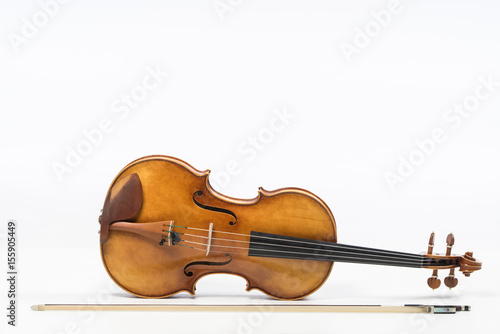 Fotografie, Obraz  The old fiddle, isolated on white background