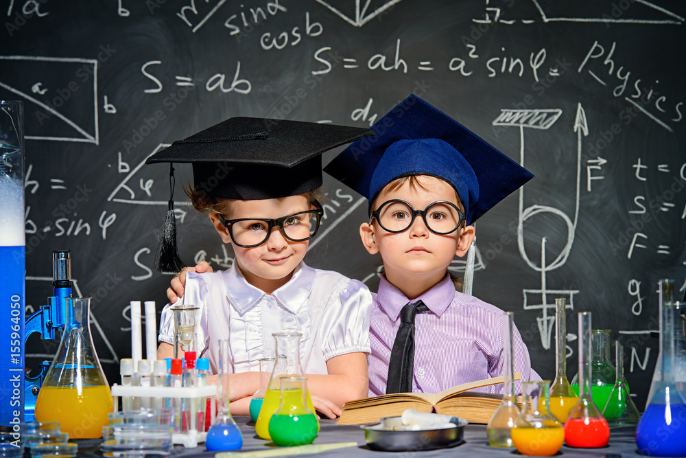 Fototapety, obrazy: smart children concept
