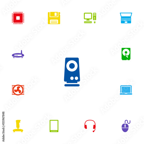 Set Of 13 Laptop Icons Set Collection Of Notebook, Fan