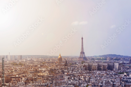 Cityscape of Paris, France Wallpaper Mural