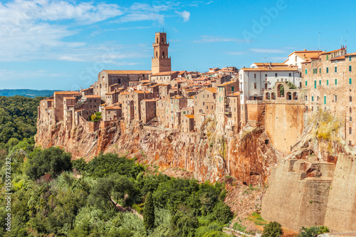 Fototapety, obrazy: Old town on the rocks, Pitigliano ,Tuscany, Italy, Europe