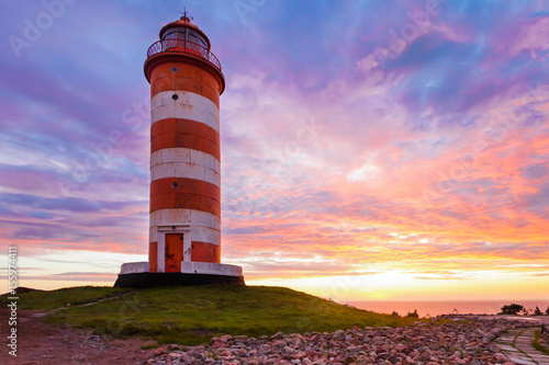 North lighthouse on Hogland. Island Hohland, Russia
