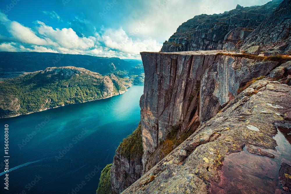 Fototapety, obrazy: Preikestolen in Norway