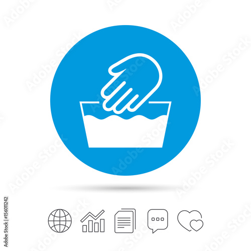 Hand Wash Sign Icon Not Machine Washable Symbol Buy This Stock