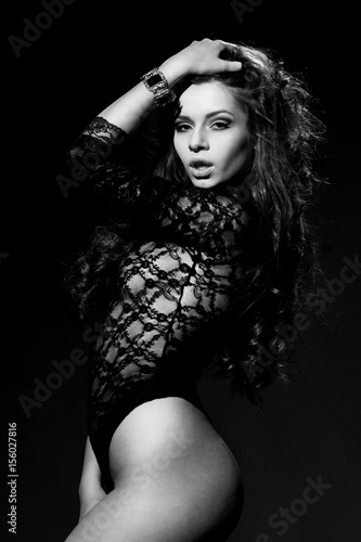 Foto op Plexiglas womenART studio portrait of young beautiful and sexy female