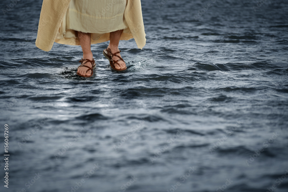 Fototapeta Jesus Walking on Water
