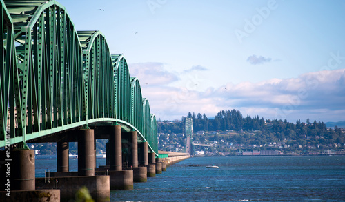 Photo Bridge structure Columbia River in Astoria Pacific