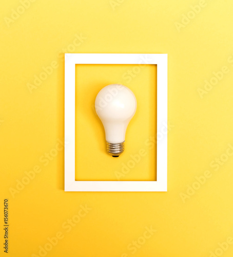 Colored light bulb Wall mural