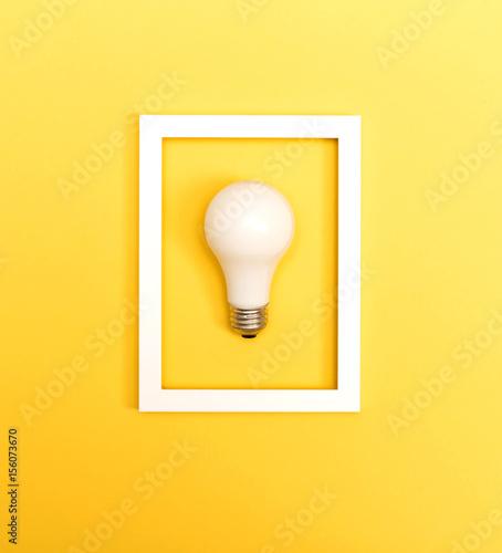 Photo  Colored light bulb
