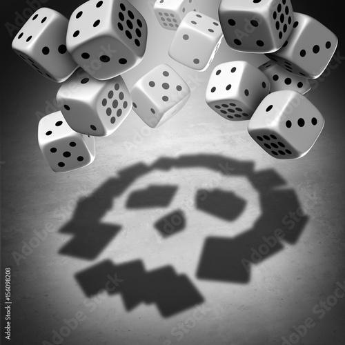 Foto  Gambling Danger Concept