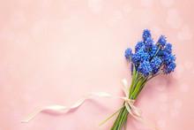 Bouquet Of Blue Muscari Flower...