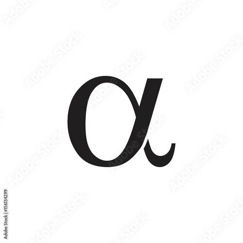 Photo alpha logo vector