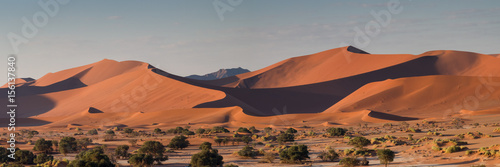 Panorama of the dune landscape at Sossusvlei