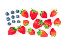 American Flag Of Blueberries A...