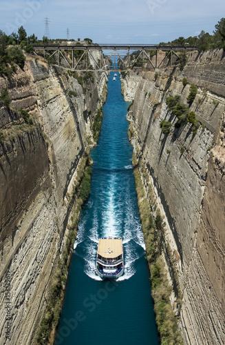Fototapeta Corinth passage canal in Greece