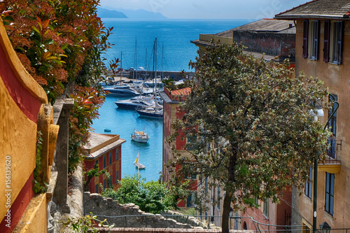 Spoed Foto op Canvas Liguria skyline santa margherita ligure