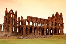 Whitby Abbey Castle, Ruined Be...