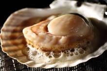 帆立貝の網焼き Grille...