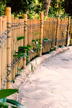 Bamboo Fence In Garden