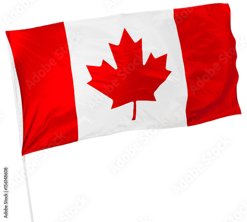 Staande foto Canada Canadian Flag isolated on white