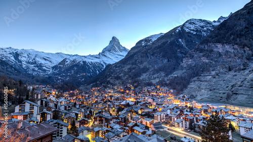 Fotografie, Obraz  Matterhorn and Zermatt view