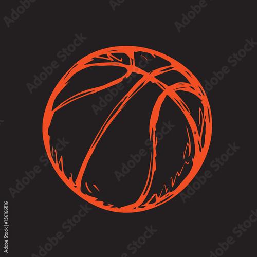 Basketball ball. Sketch