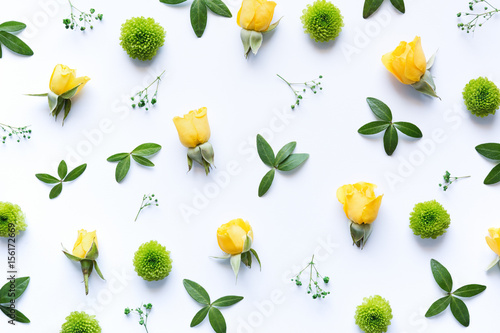 Fototapeta  Floral Arrngement On White Background